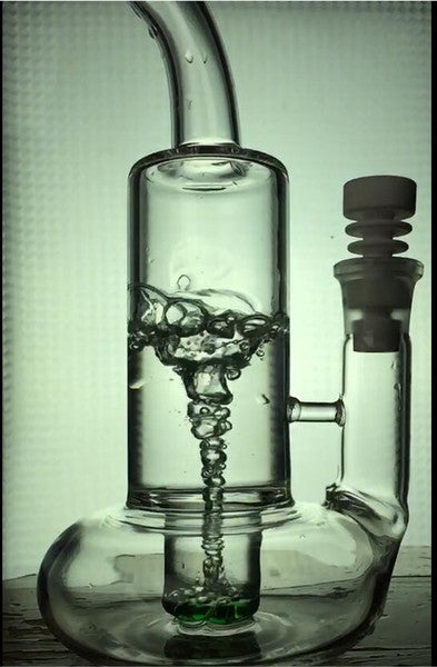 "Cyclone Twist Dab Rig 10"" Inches Glass Water Pipes With 18.8mm"