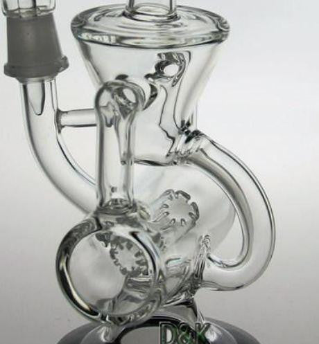 "Double Recycler Rig 8.5"" size with 14.4mm joint"