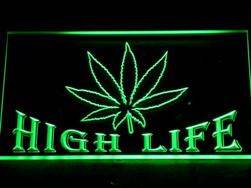 High Life Bar LED Neon Sign with On/Off Switch 7 Colors to choose