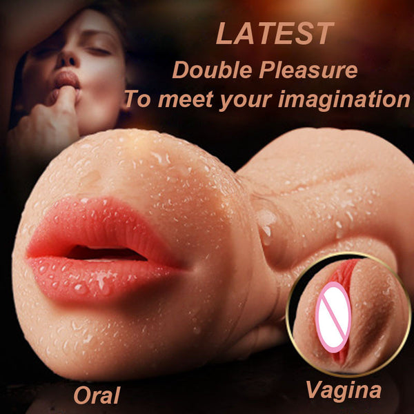 Double Trouble Sex Toy. Mouth and Vagina Male Sex Toy