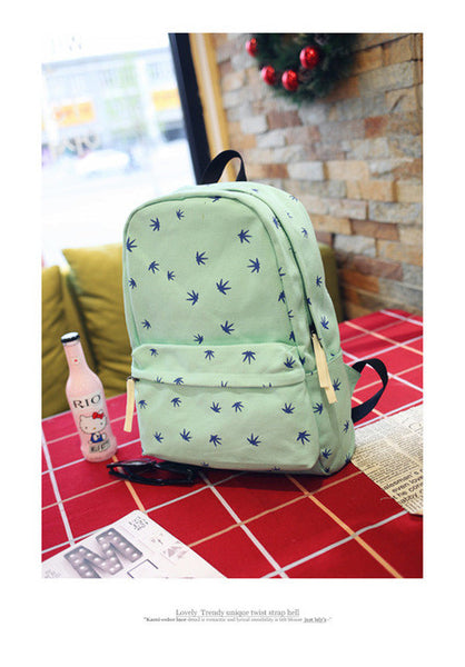 Cool Colors Weed Theme Back Pack