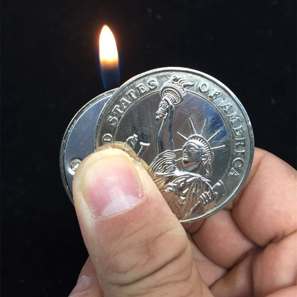 Silver Dollar Lighter