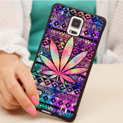 Cosmic Weeds Soft Rubber Case For Samsung S4 S5 S6 S7 edge plus Note 3 Note 4 Note 5