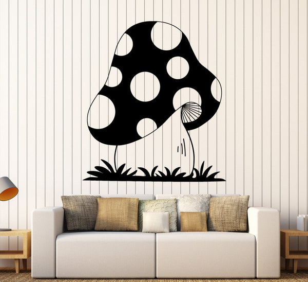 Big Mushroom Cartoon Wall Decal