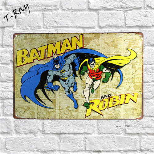 Bat Man Tin Metal Posters