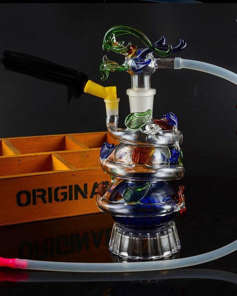 Send the pot accessories, glass bongs, glass water pipe, smoking, color style random delivery