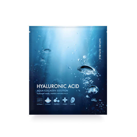 Nature Republic Aqua Collagen Solution Hyaluronic Acid Hydrogel Sheetmask
