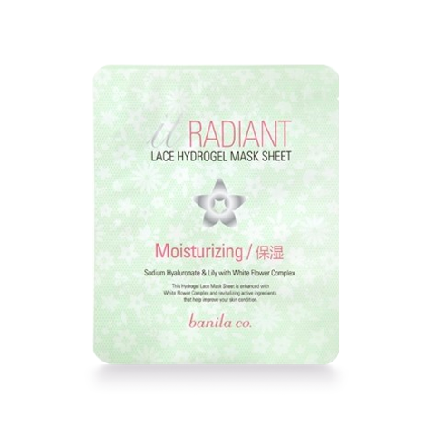 Radiant moisturizing hydrogel mask