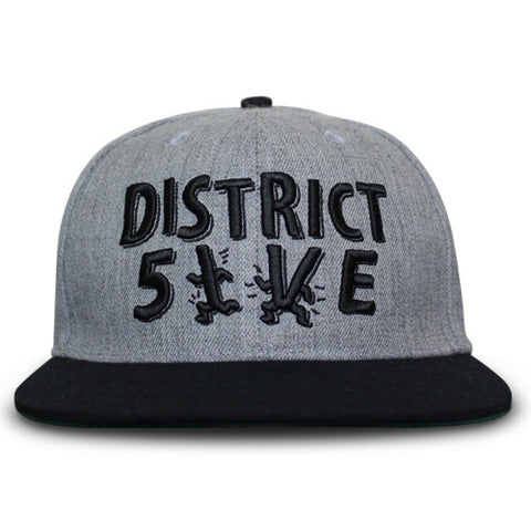 Grey Snapback - District 5ive