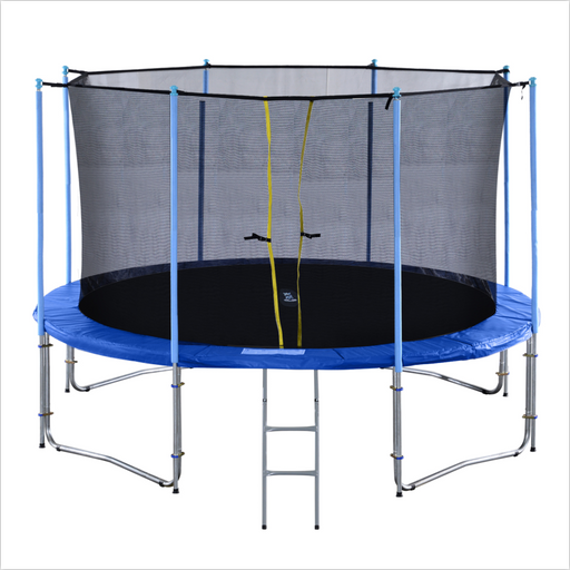 ExacMe Outdoor Trampoline 16 15 14 12 10 Foot with Intra Enclosure and Ladder, C10-C16