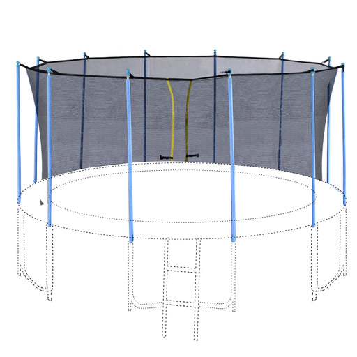 ExacMe Inner Enclosure Net with Poles for 12 14 15 16ft C-Series Trampoline 6181-C-3