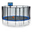 ExacMe 15 Foot Luxury Trampoline with Rectangular Basketball Hoop and Premium Enclosure Carbon Fiber Rod, 400 LBS Weight Limit, L15+BH07