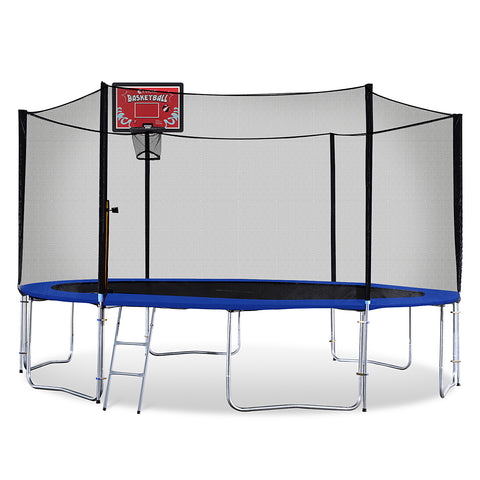 ExacMe 14 FT 6W Legs Trampoline w/ Safety Pad & Enclosure Net & Ladder ALL-IN-ONE COMBO T14