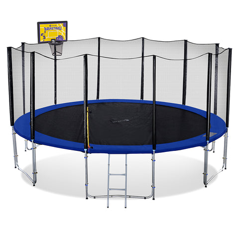 ExacMe 16FT 6W Legs Round Trampoline w/ Safety Pad & Enclosure Net & Ladder ALL-IN-ONE COMBO T16