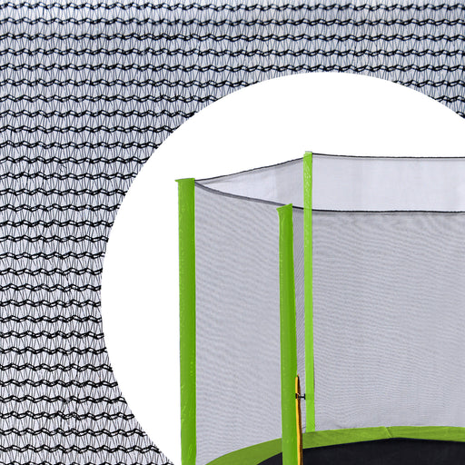 Exacme 15 FT Trampoline Replacement Net Outer Enclosure Netting with Light Green Sleeves | Poles Not Included EN015LG