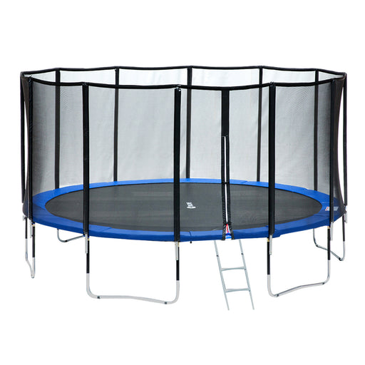 ExacMe 15 Foot Luxury Trampoline with Premium Enclosure Carbon Fiber Rod, 400 LBS Weight Limit, L15