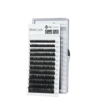 Mixed length Eyelash extensions lash tray