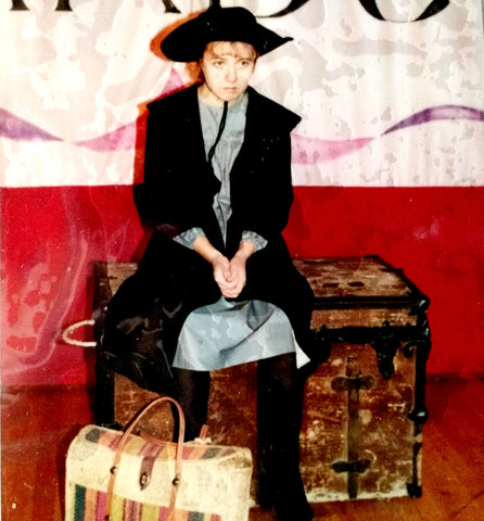 Hilarie Hicks as sourfaced orphan Mary Lennox in The Secret Garden, Western High School, Las Vegas, NV 1993.