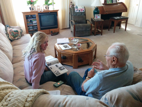 Legacy Tale interviewing WWII veteran in his home