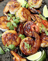 Honey Habanero Garlic Shrimp Recipe With Mango