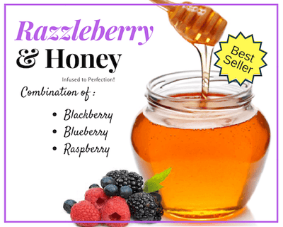 1 LB RazzleBerry Infused Honey