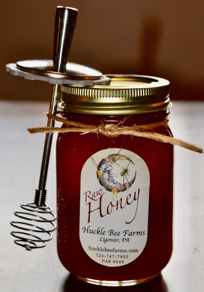 Honey - 1.5 Gift Jar With Dipper