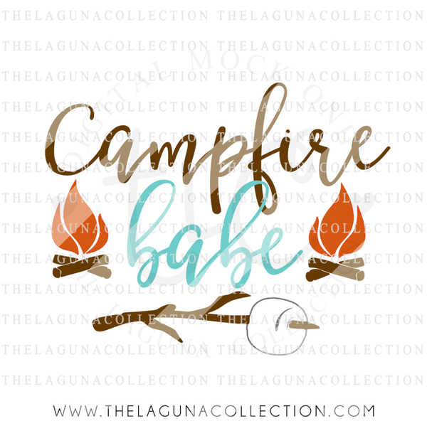 Campfire babe svg file summer svg for Hunting fishing loving everyday