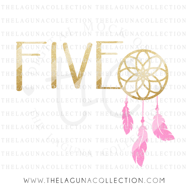 five-dreamcatcher-birthday-svg-file