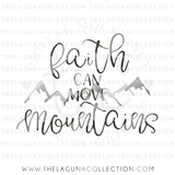 Faith Can Move Mountains SVG file