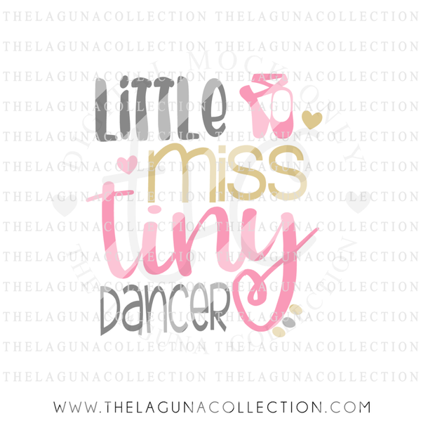 Little Miss Tiny Dancer SVG file