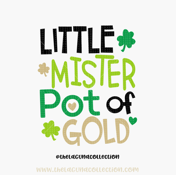 Little Mister Pot of Gold - SVG File