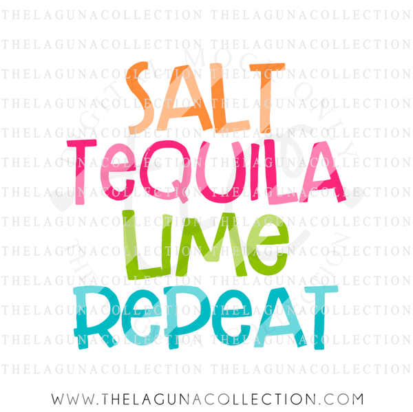 Salt Tequila Lime Repeat SVG