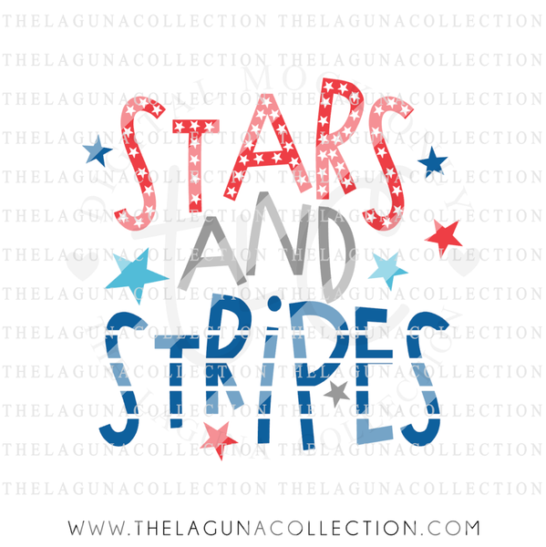 Stars and Stripes Design - SVG DXF PNG