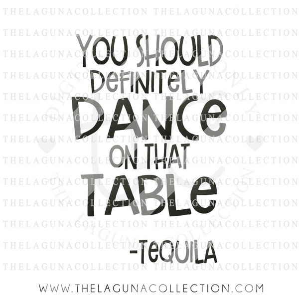 You Should Definitely Dance on that Table  SVG