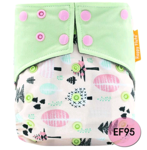 Charcoal Bamboo Pocket Diaper -  Woodlands