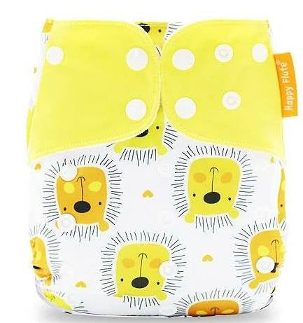 Microsuede Pocket Diaper - Cute Cub