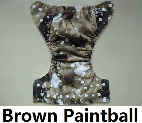 Sunbaby Pocket Diaper Size 1- Brown Paintball