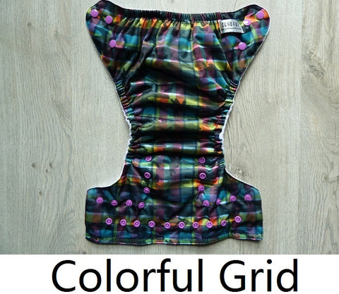 Sunbaby Pocket Diaper Size 1 - Colourful Grid