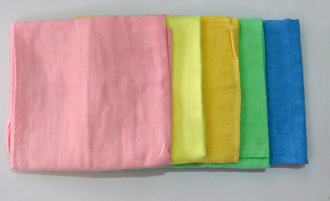 Tinycare Muslin Square - Colour (Multipack of 5)