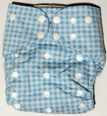 Cotton Pocket Diaper Onesize - Blue