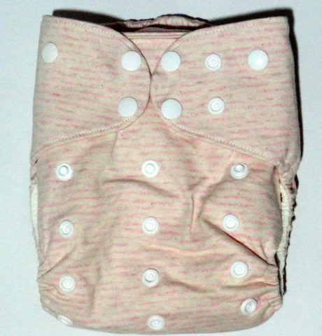 Cotton Pocket Diaper One-size - Peach