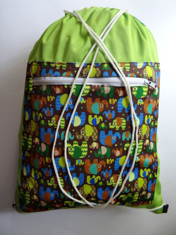 Drawstring Wetbag - Elephants