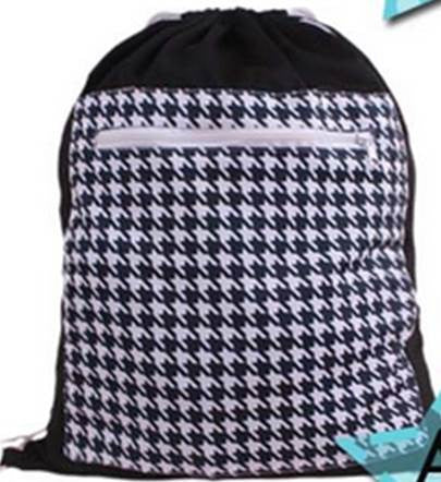 Drawstring Wetbag - Houndstooth