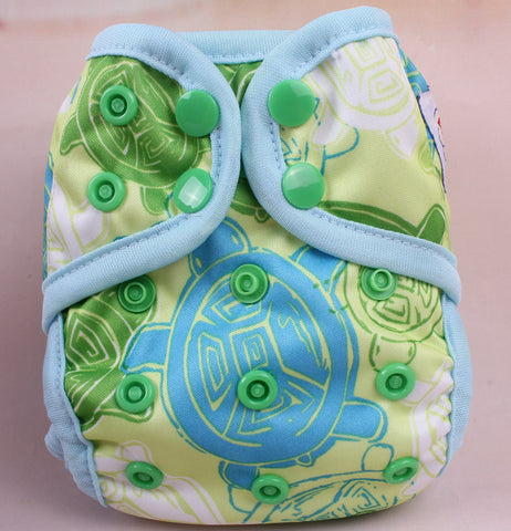 Newborn Diaper Cover - Turtle