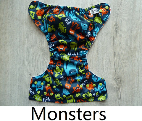Sunbaby Pocket Diaper Size 2 - Monster