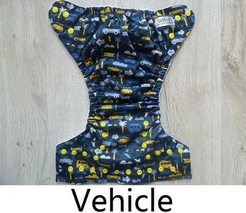 Sunbaby Pocket Diaper Size 2 - Vehicles