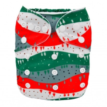 Microsuede Pocket Diaper - Christmas Outdoor
