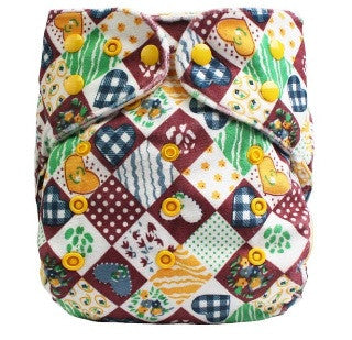One-size Diaper Cover - Minky Matrix