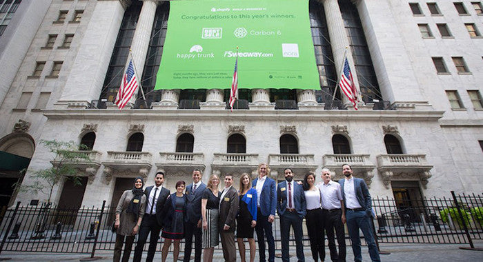Nora team rings opening bell at the New York Stock Exchange