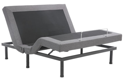 Classic Brands Adjustable Comfort Upholstered Adjustable Bed Base